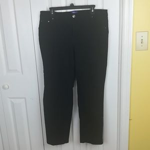 3/$20 Just My Size black classic fit twill jeans